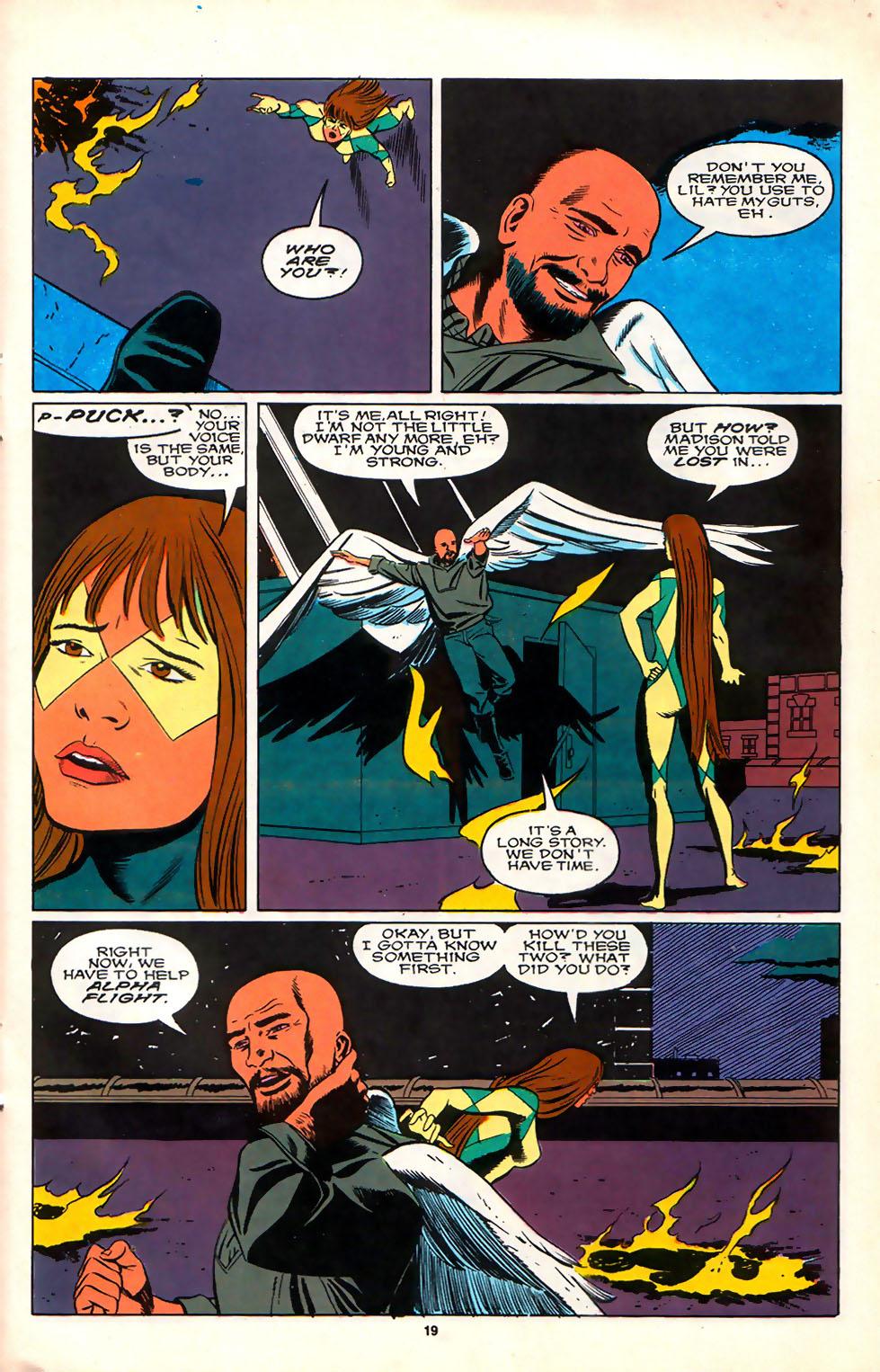 Read online Alpha Flight (1983) comic -  Issue #75 - 17