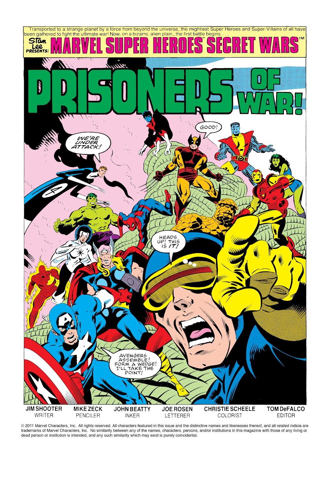 Marvel Super Heroes Secret Wars (1984) 2 Page 2