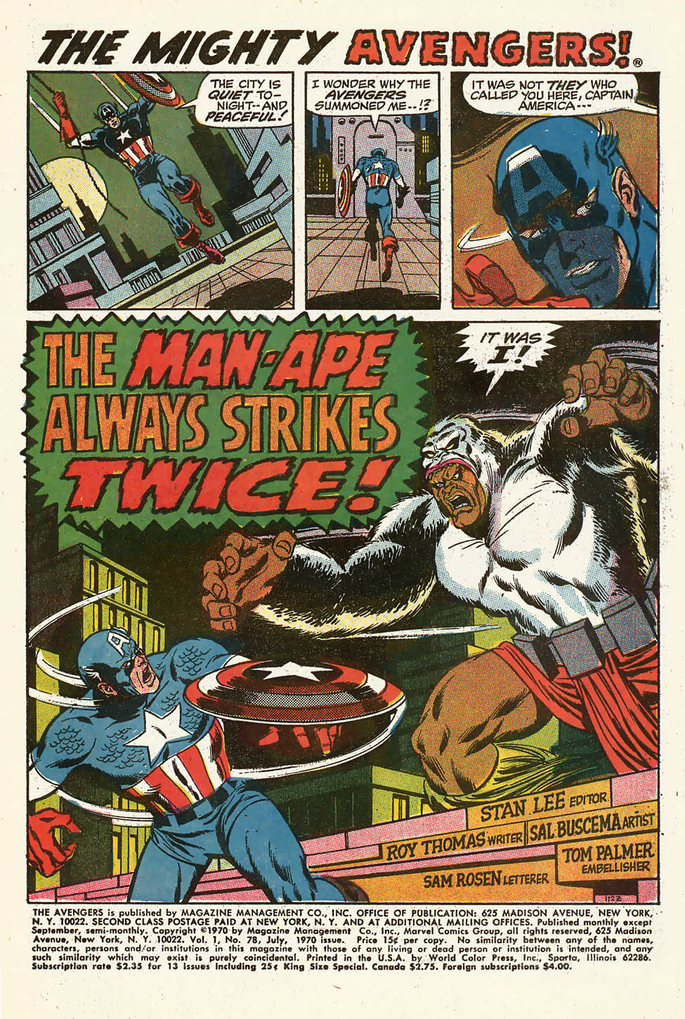 The Avengers (1963) 78 Page 1