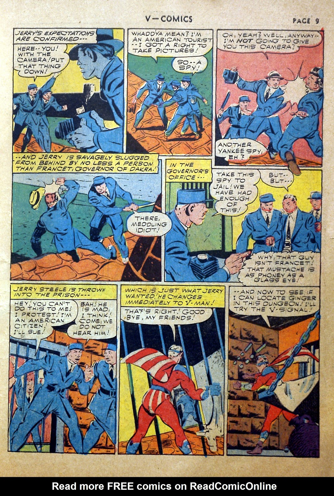Read online V...- Comics comic -  Issue #2 - 10