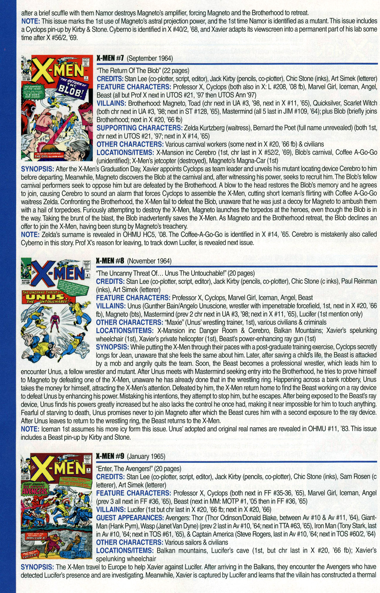 Read online Official Index to the Marvel Universe comic -  Issue #1 - 48