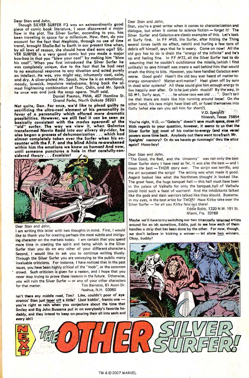 Read online Silver Surfer (1968) comic -  Issue #6 - 65
