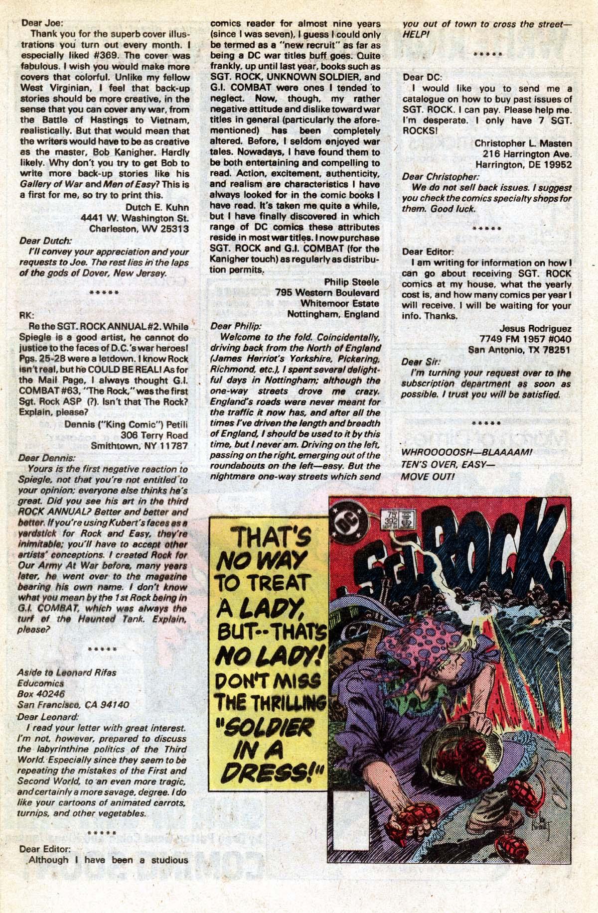 Read online Sgt. Rock comic -  Issue #391 - 18