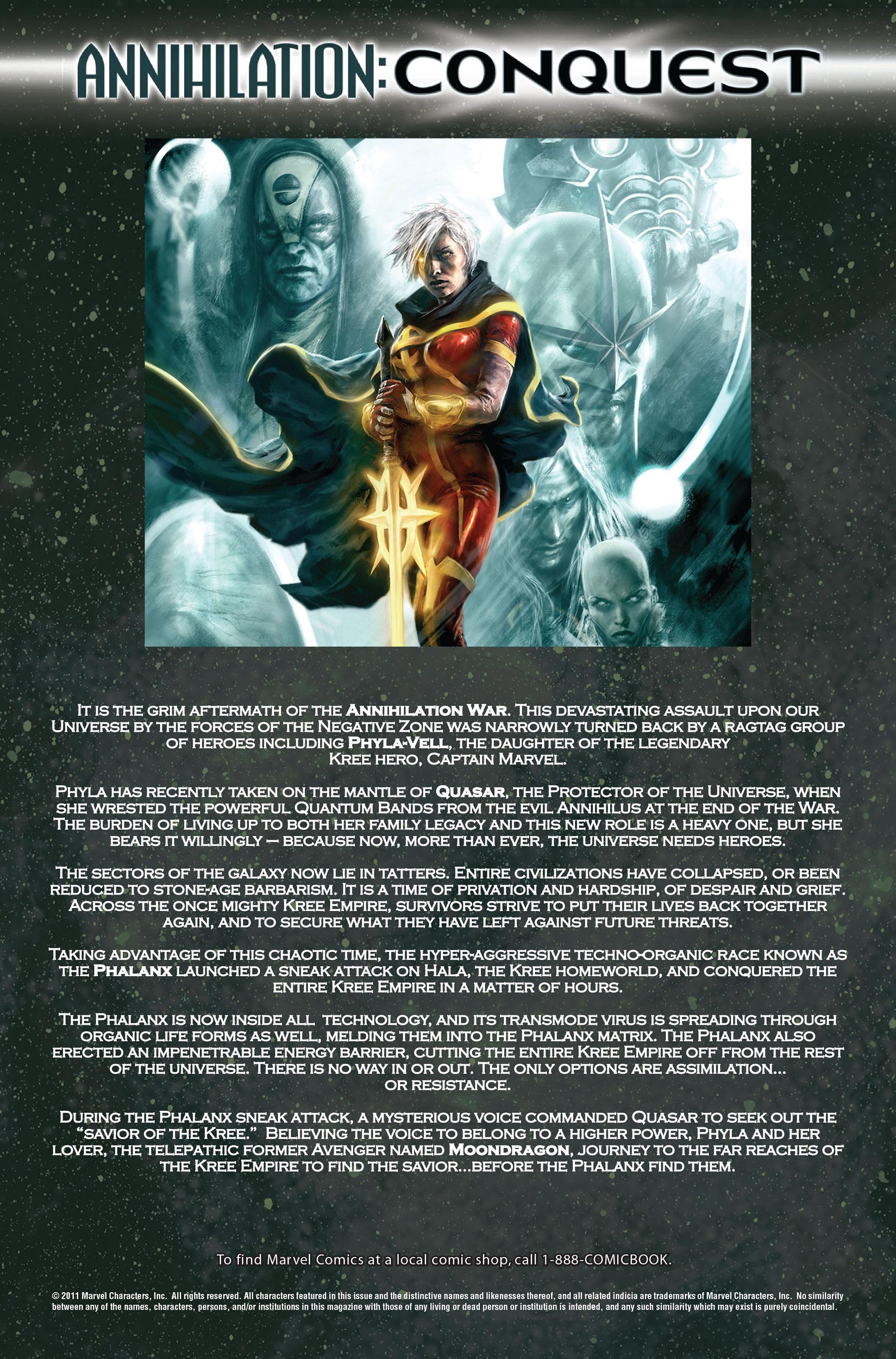 Read online Annihilation: Conquest - Quasar comic -  Issue #1 - 2