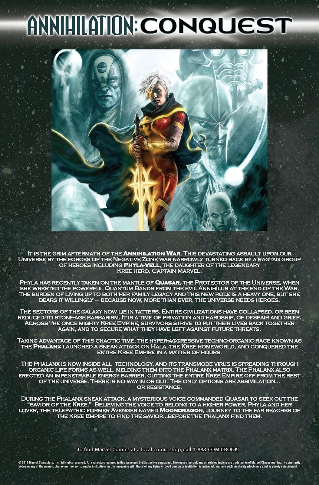 Annihilation: Conquest - Quasar issue 1 - Page 2