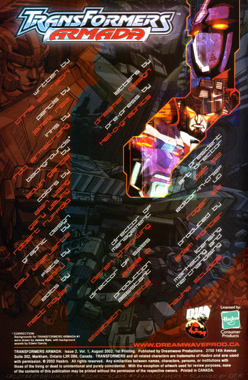 Read online Transformers Armada comic -  Issue #2 - 2