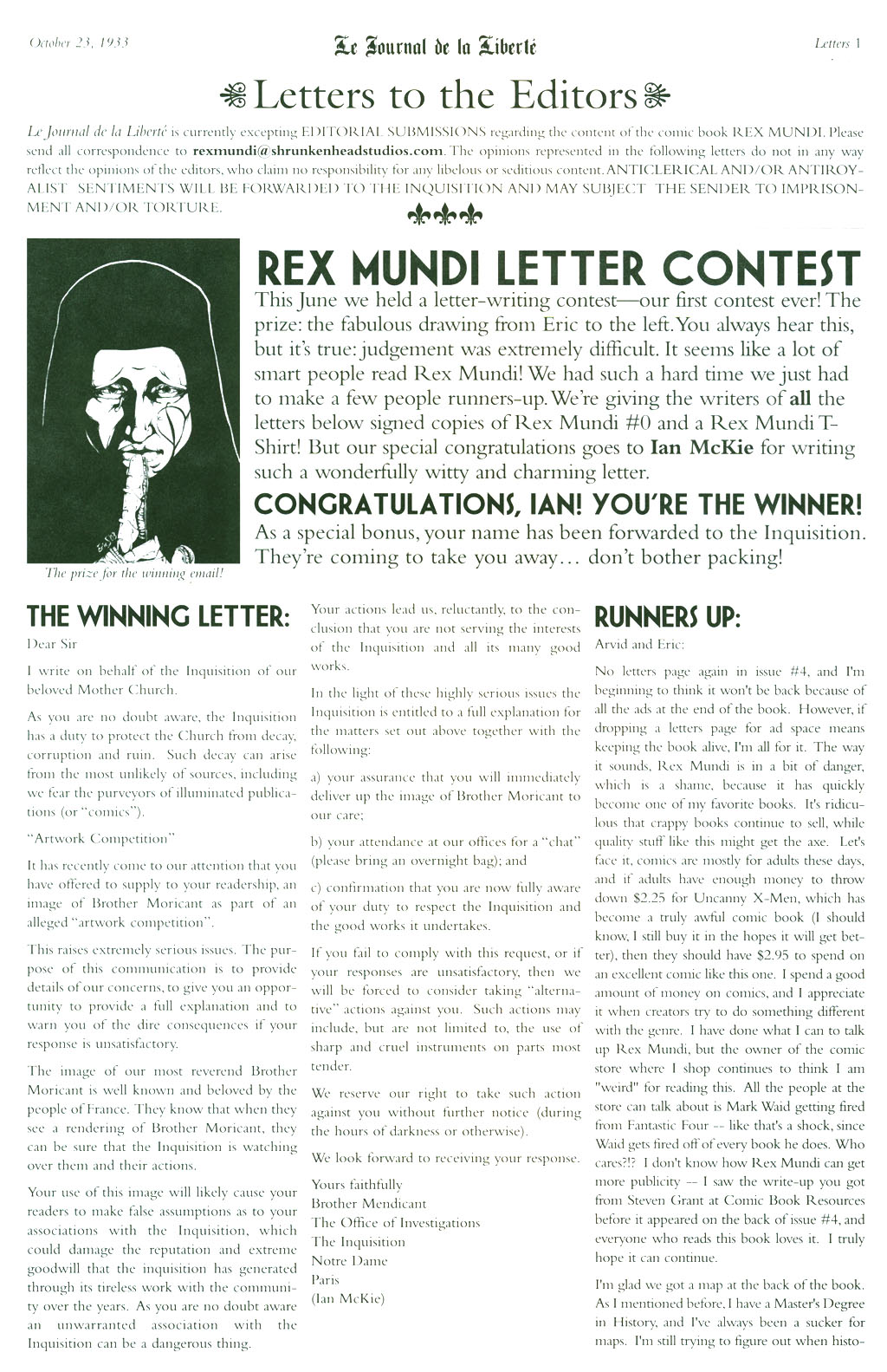 Read online Rex Mundi comic -  Issue #5 - 28