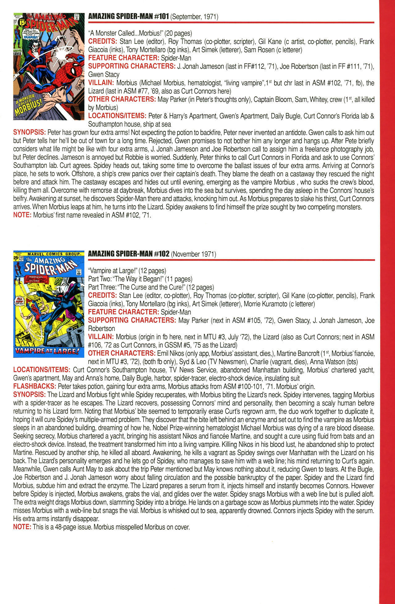 Read online Official Index to the Marvel Universe comic -  Issue #2 - 23