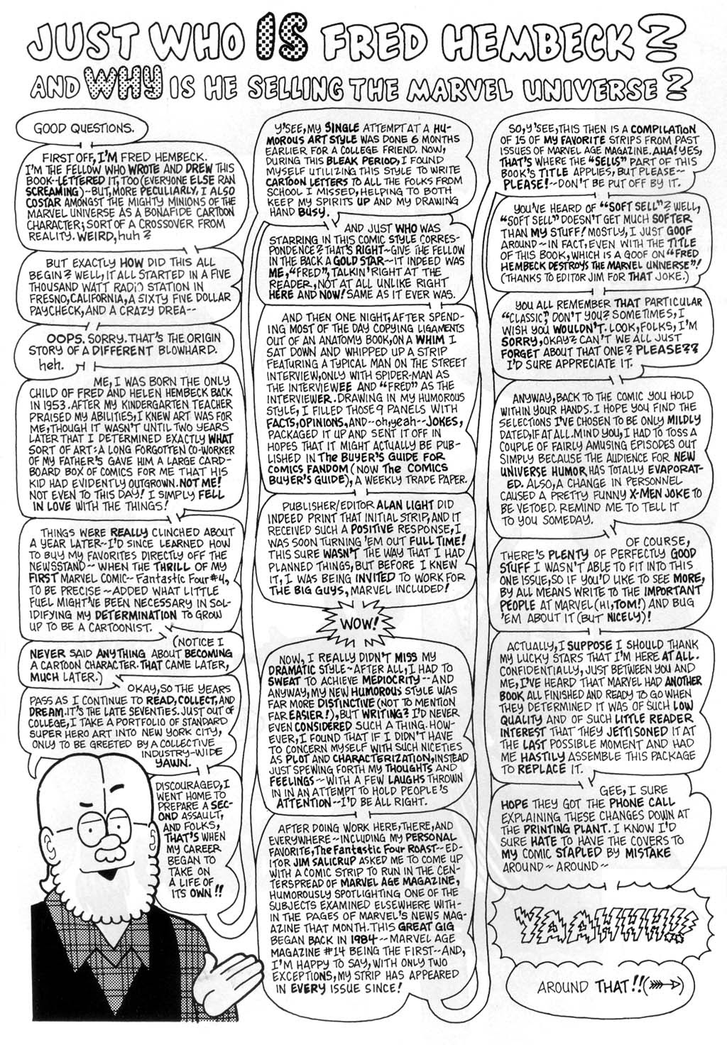 Fred Hembeck Sells the Marvel Universe issue Full - Page 2