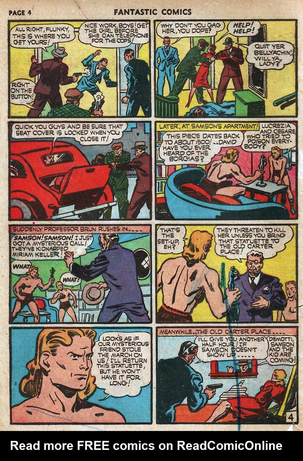 Read online Fantastic Comics comic -  Issue #18 - 6