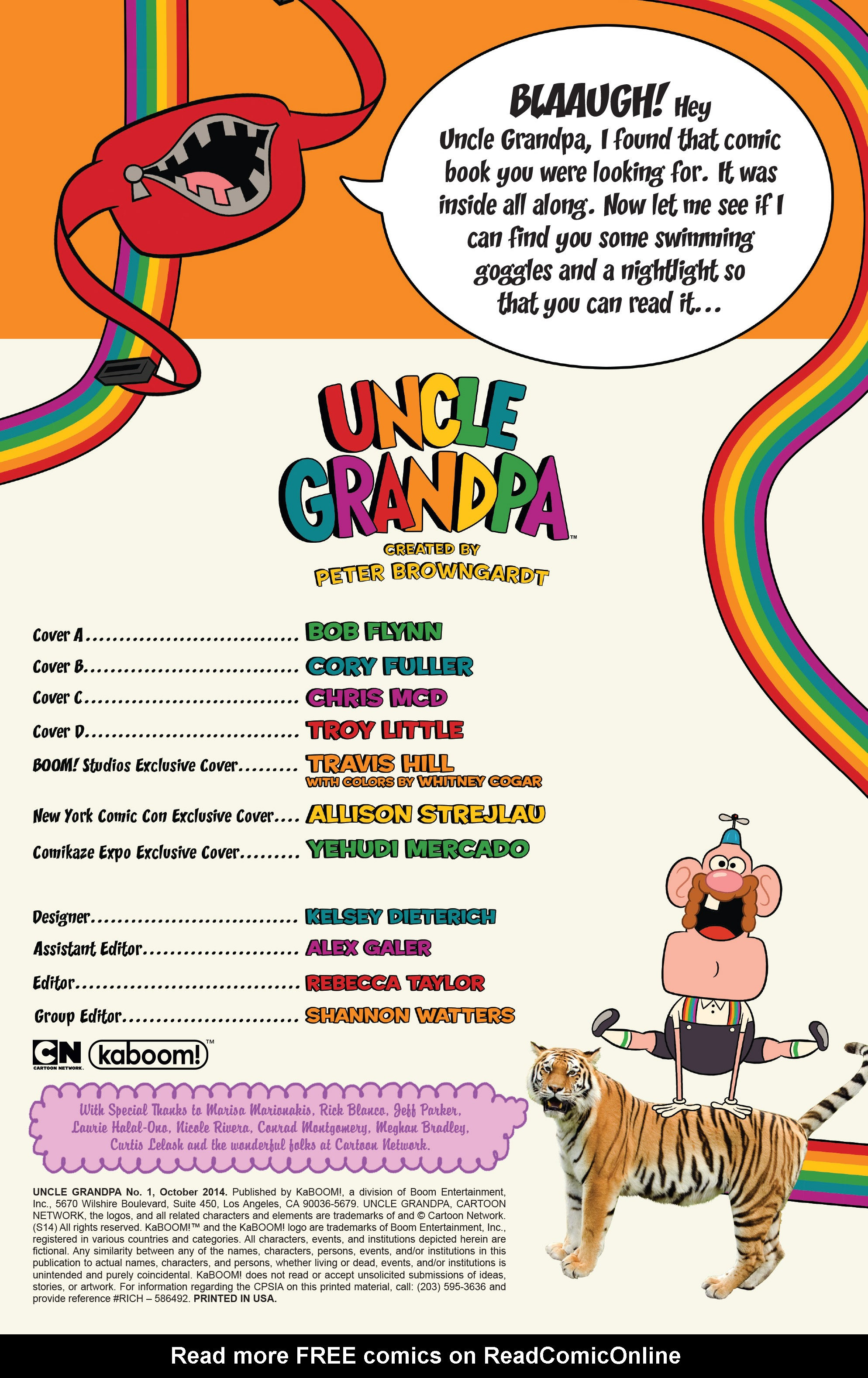 Read online Uncle Grandpa comic -  Issue #1 - 2