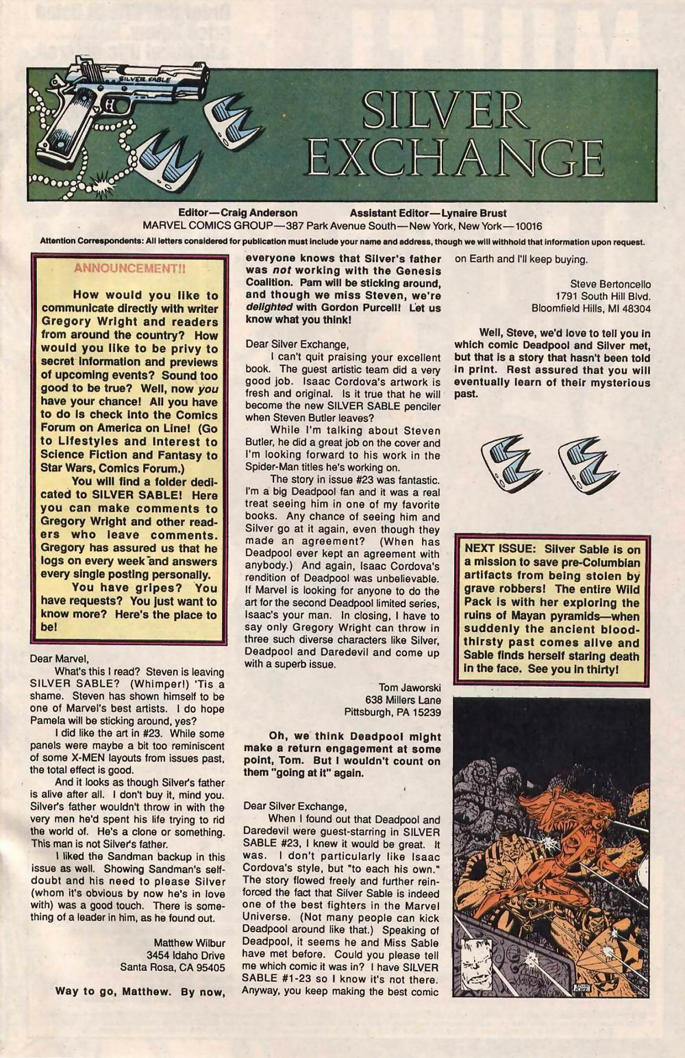 Read online Silver Sable and the Wild Pack comic -  Issue #28 - 24