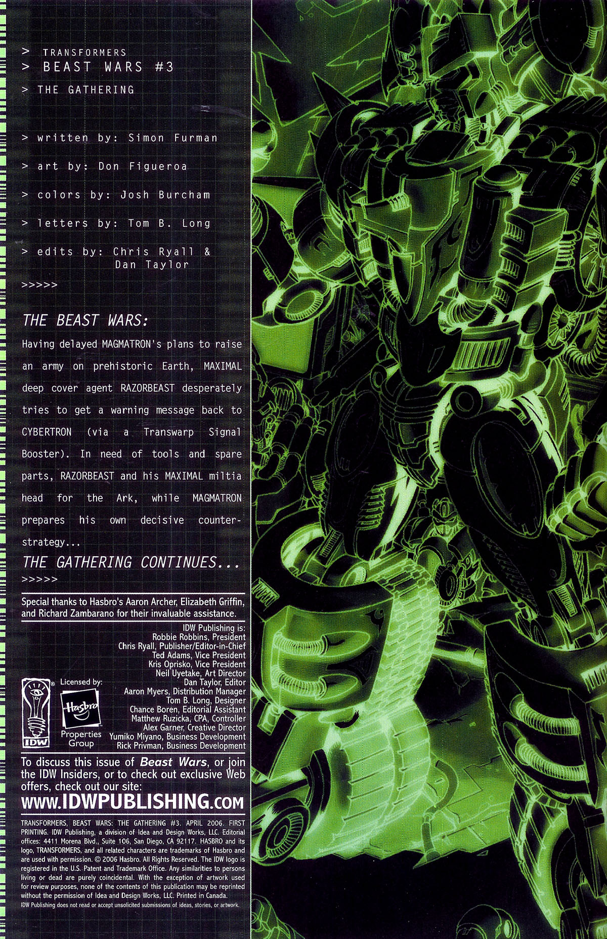 Read online Transformers, Beast Wars: The Gathering comic -  Issue #3 - 5