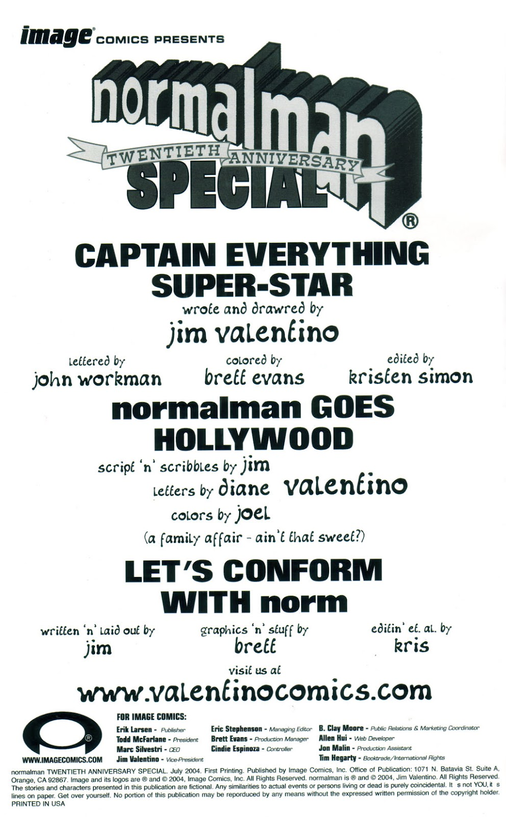 Read online Normalman 20th Anniversary Special comic -  Issue # Full - 2