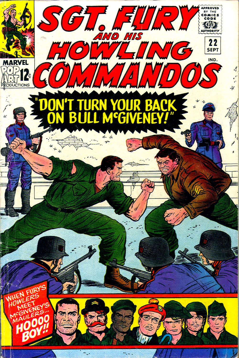 Read online Sgt. Fury comic -  Issue #22 - 1