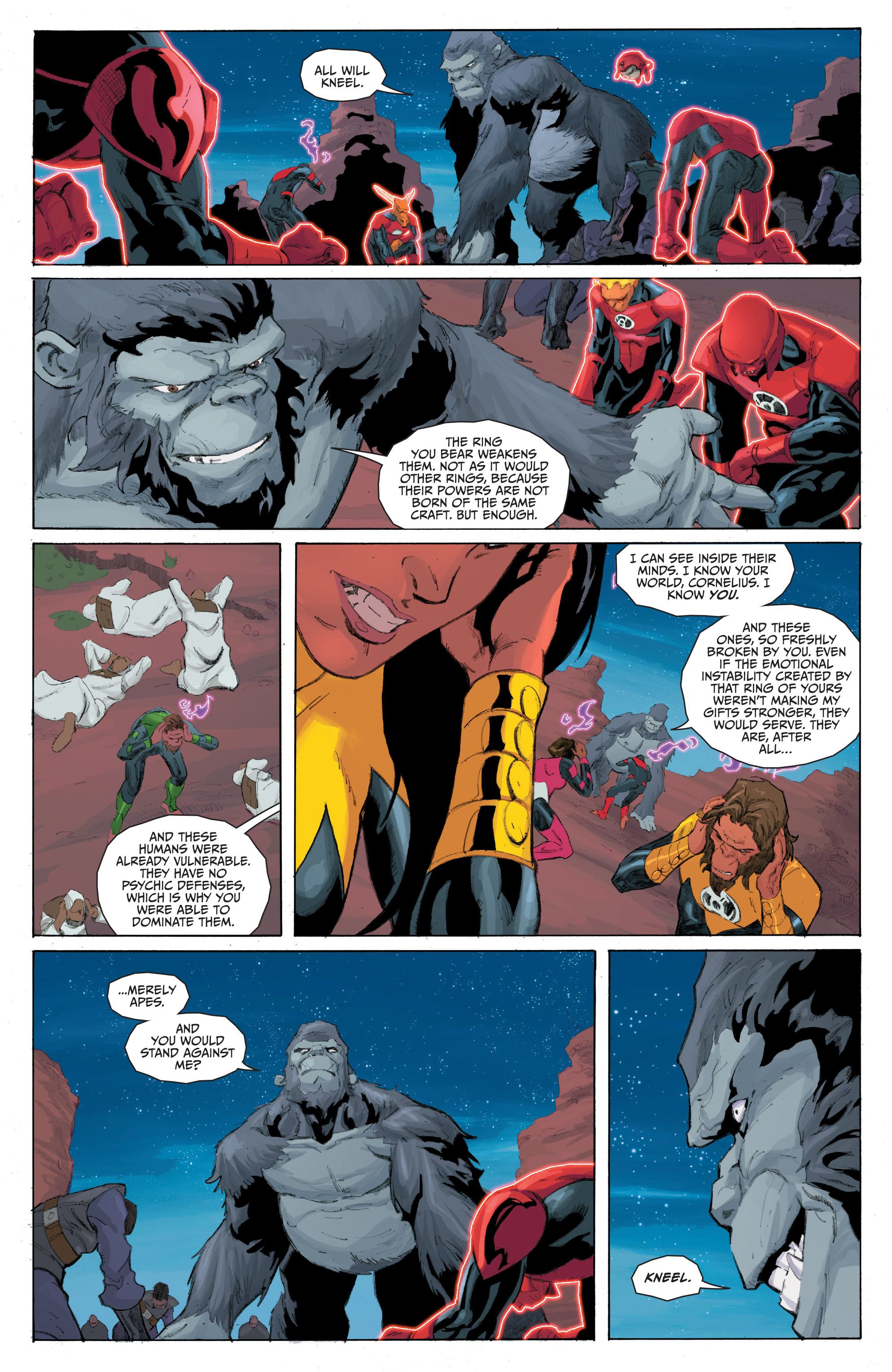 Read online Planet of the Apes/Green Lantern comic -  Issue #5 - 7