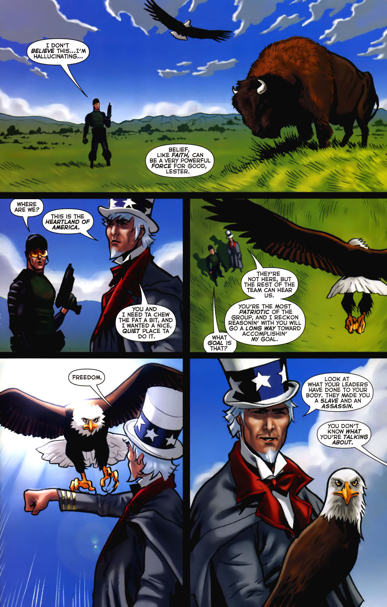 Read online Uncle Sam and the Freedom Fighters (2006) comic -  Issue #2 - 10