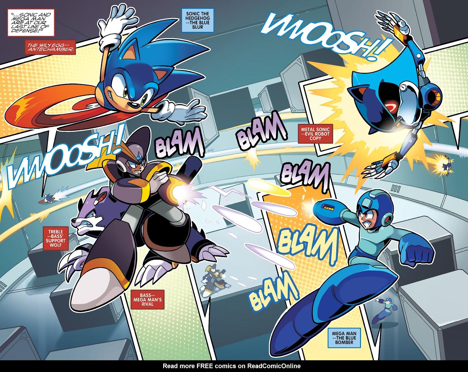 Comic Sonic Mega Man Worlds Collide issue 3