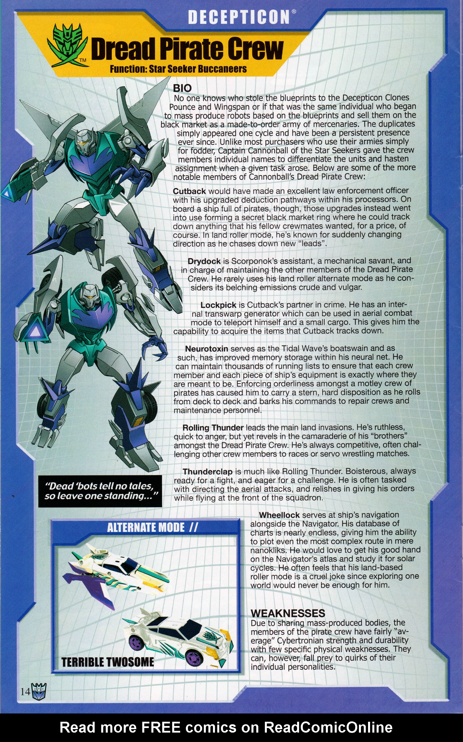 Read online Transformers: Collectors' Club comic -  Issue #58 - 14