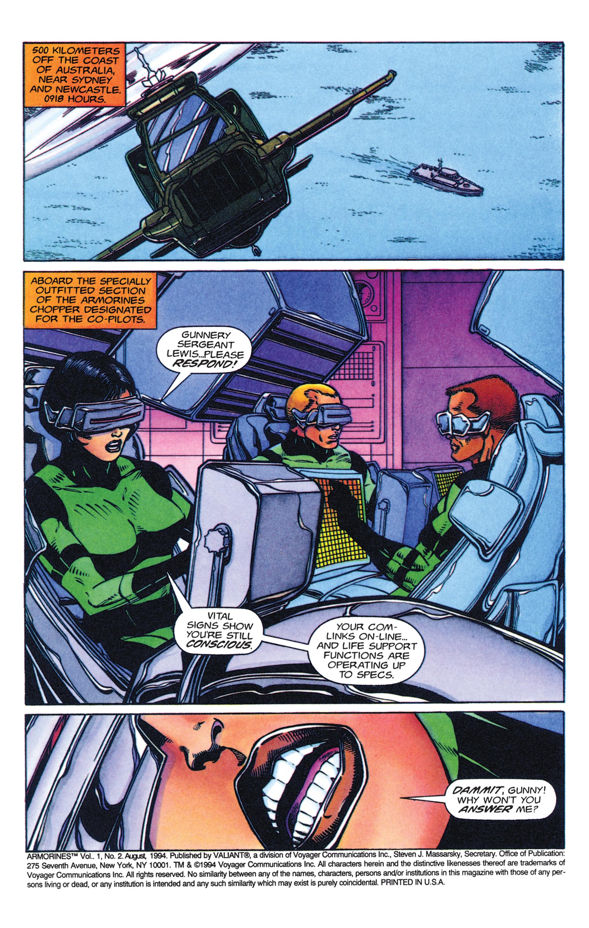 Read online Armorines comic -  Issue #2 - 2