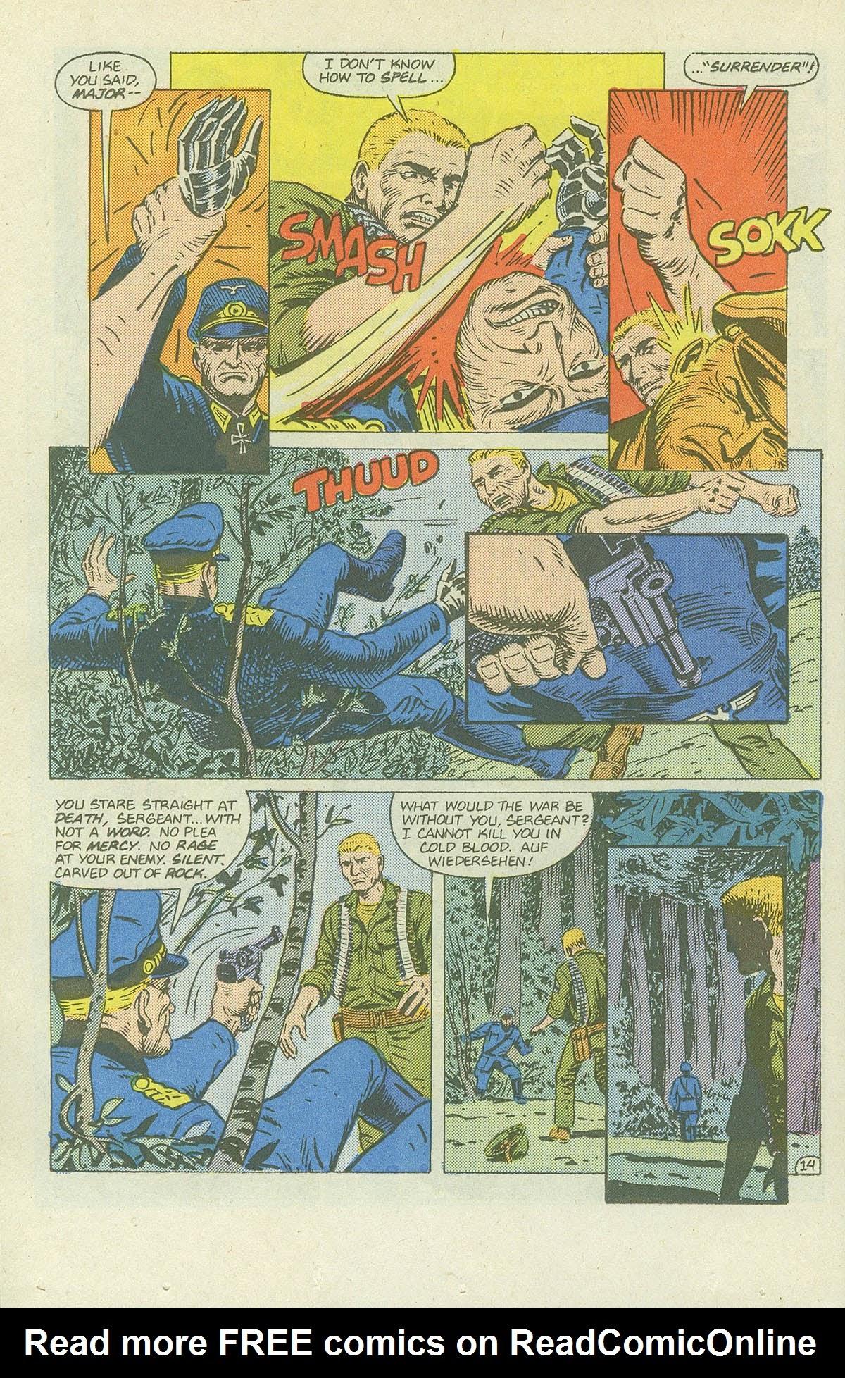 Read online Sgt. Rock comic -  Issue #420 - 19