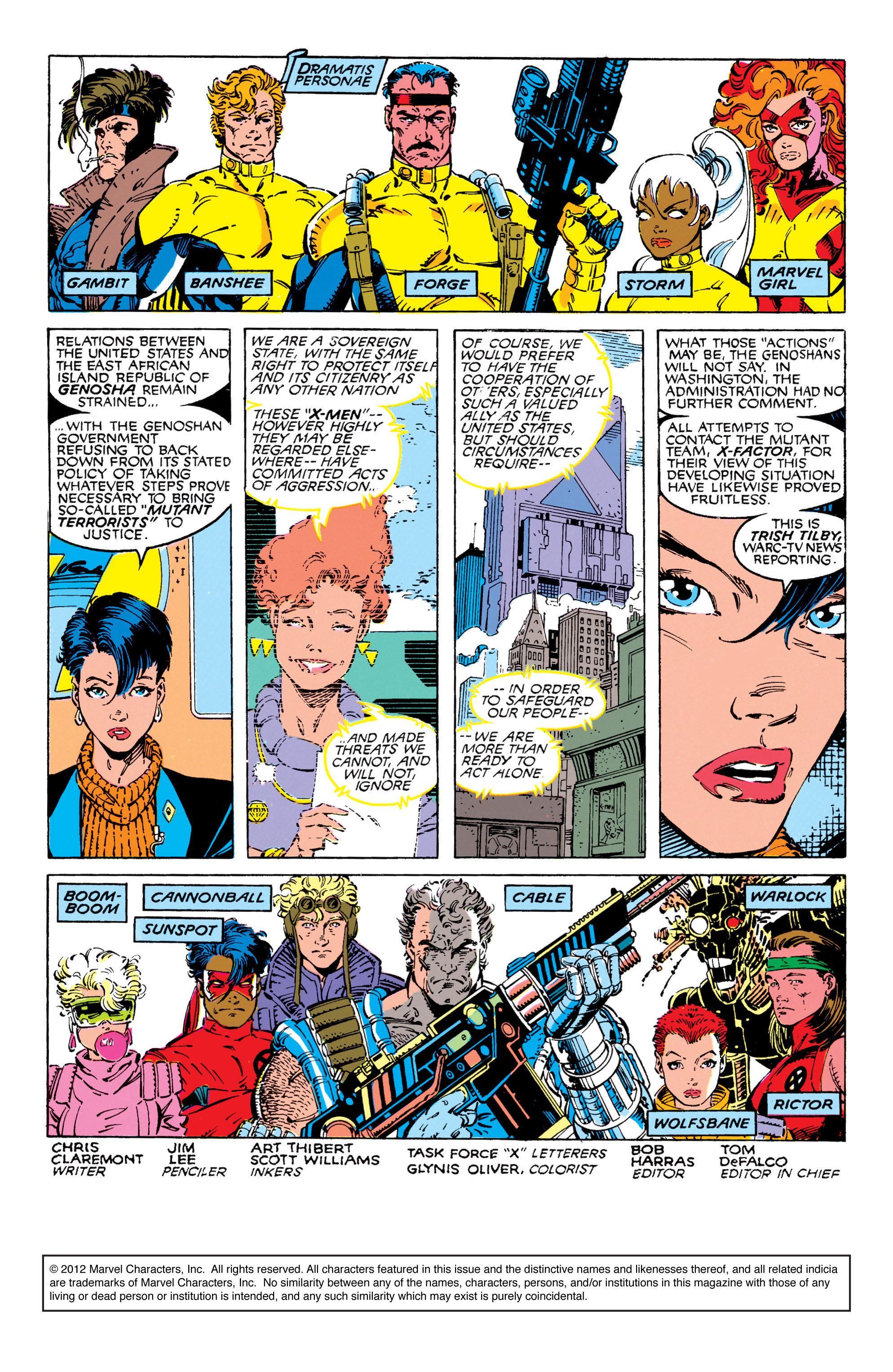Read online Uncanny X-Men (1963) comic -  Issue #270 - 2
