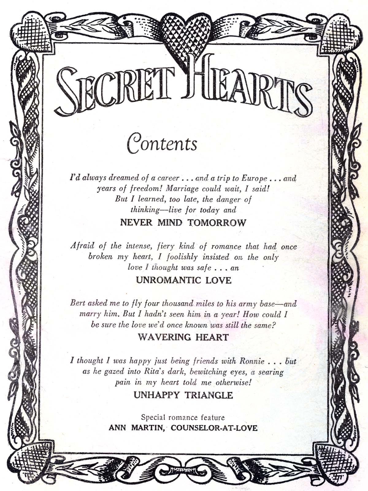 Read online Secret Hearts comic -  Issue #30 - 2