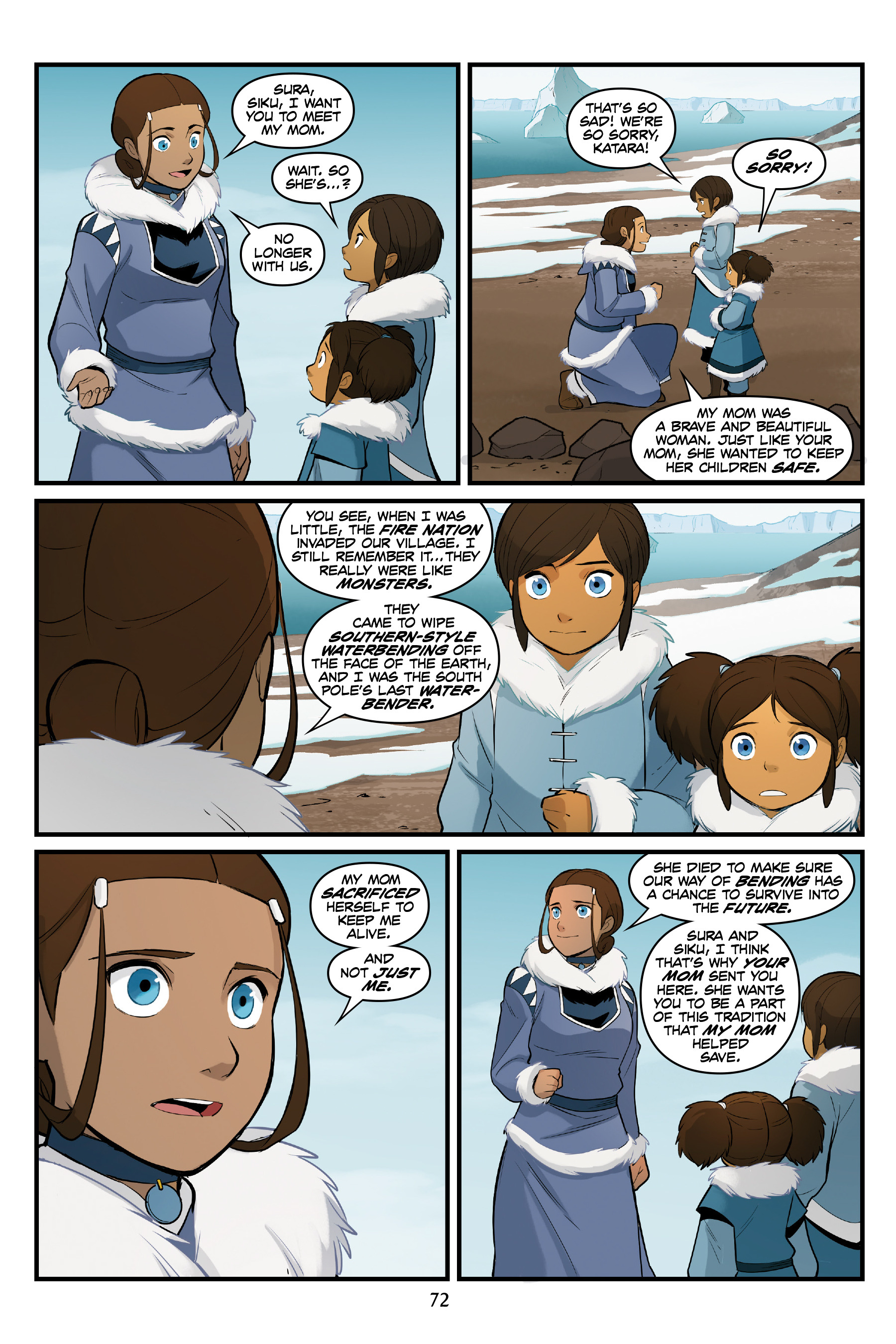 Read online Nickelodeon Avatar: The Last Airbender - North and South comic -  Issue #3 - 71