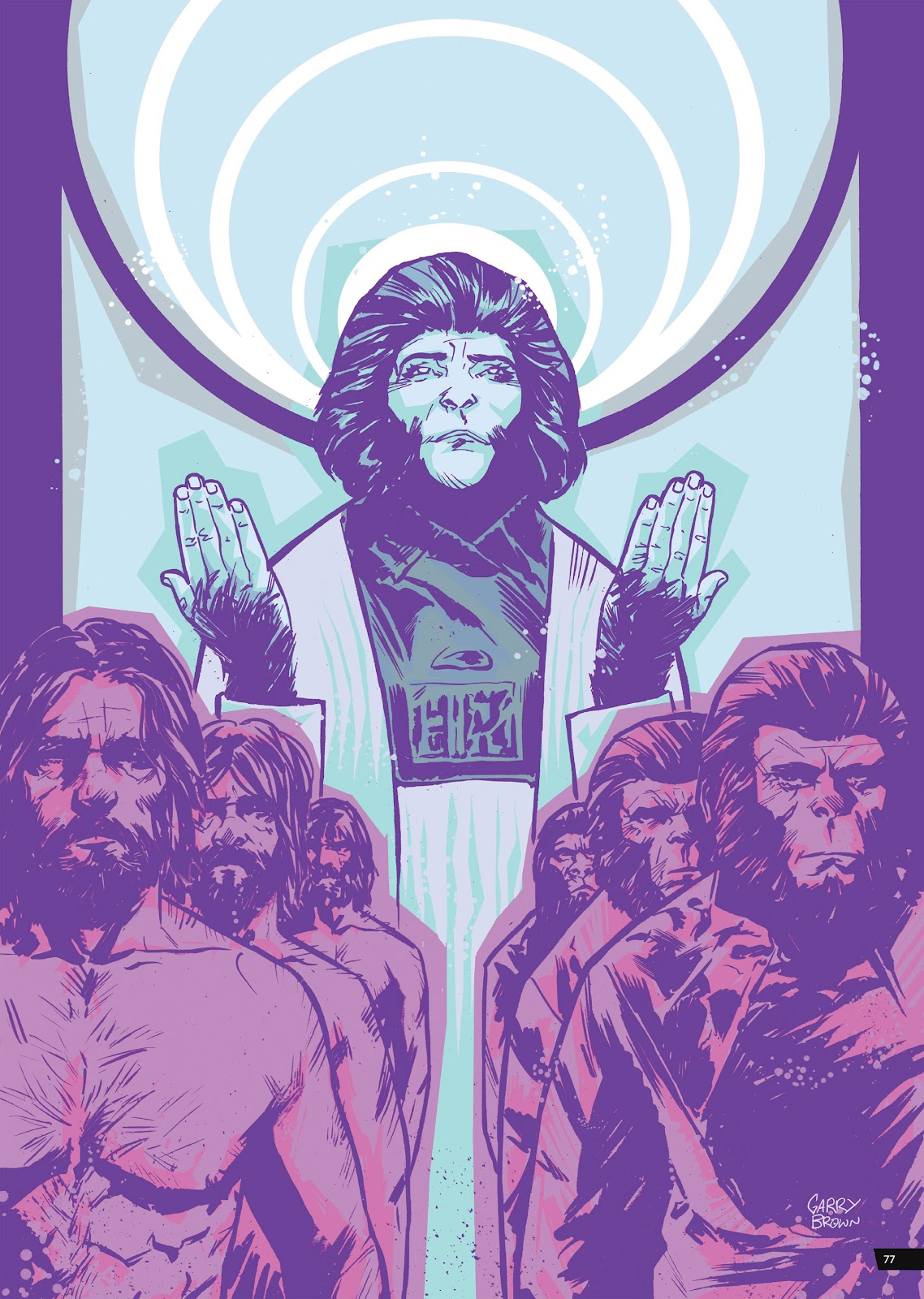 Read online Planet of the Apes Artist Tribute comic -  Issue # TPB - 77