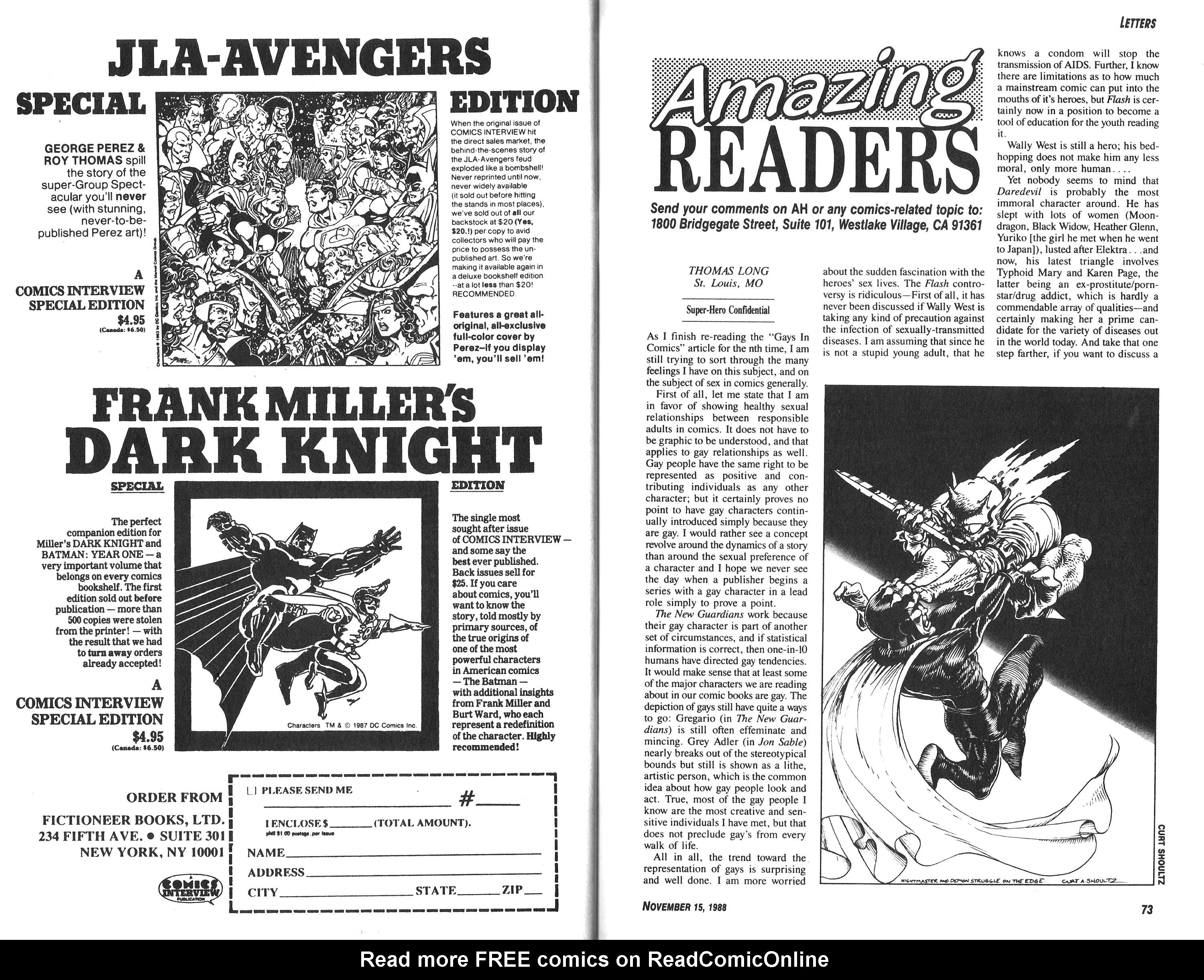 Read online Amazing Heroes comic -  Issue #153 - 37