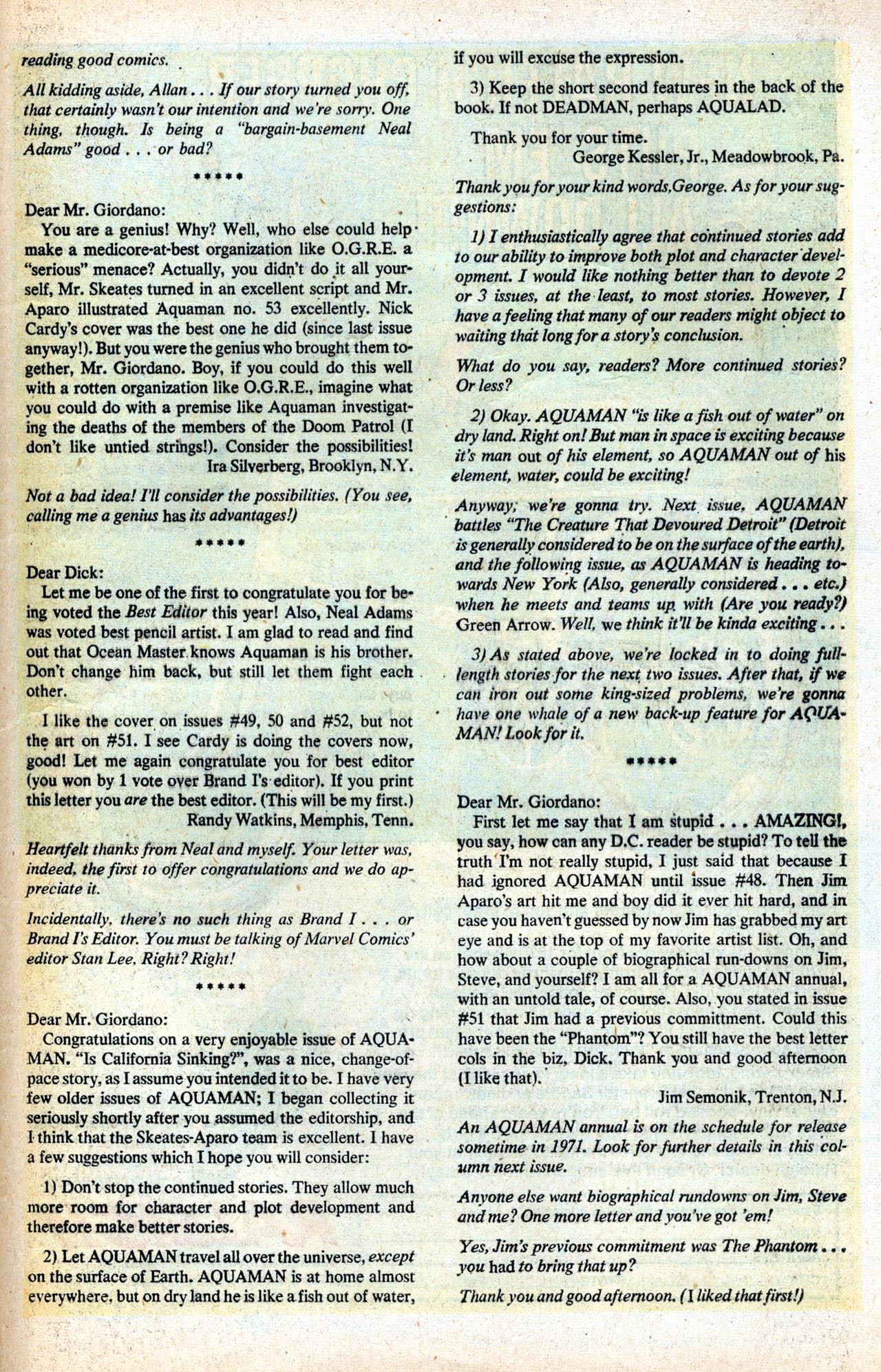Read online Aquaman (1962) comic -  Issue #55 - 33