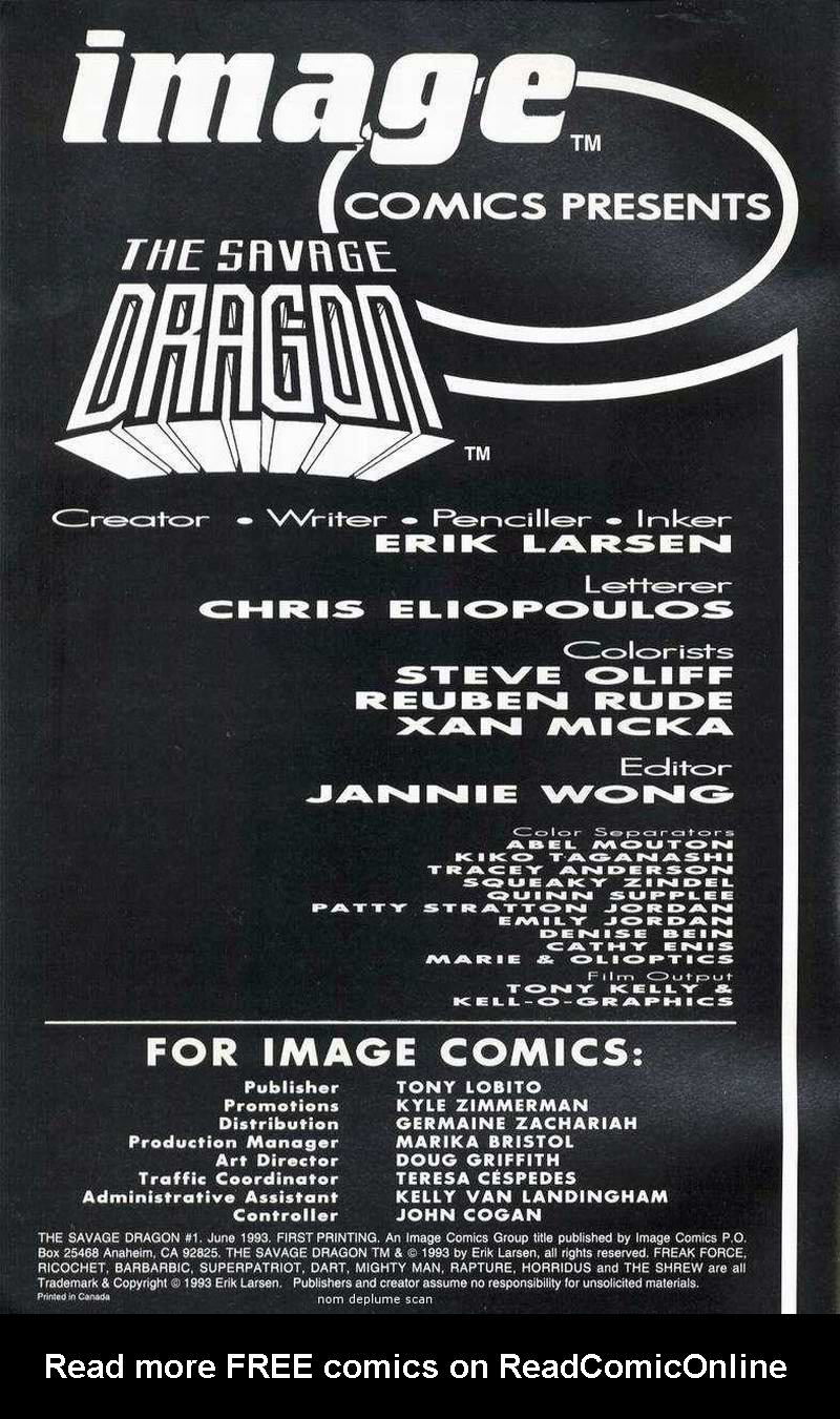 The Savage Dragon (1993) Issue #1 #3 - English 2