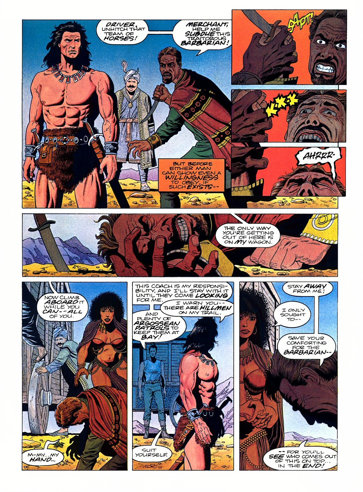Read online Marvel Graphic Novel: Conan the Barbarian: The Skull of Set comic -  Issue # Full - 22