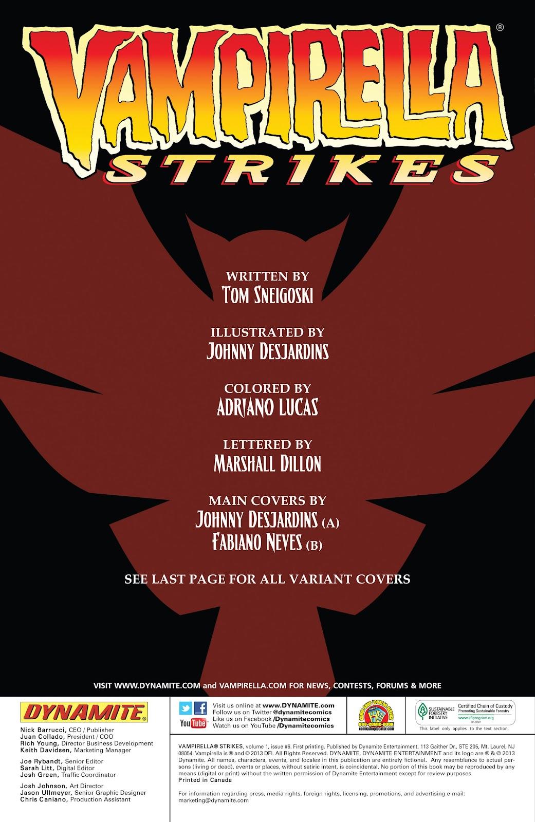 Read online Vampirella Strikes comic -  Issue #6 - 3