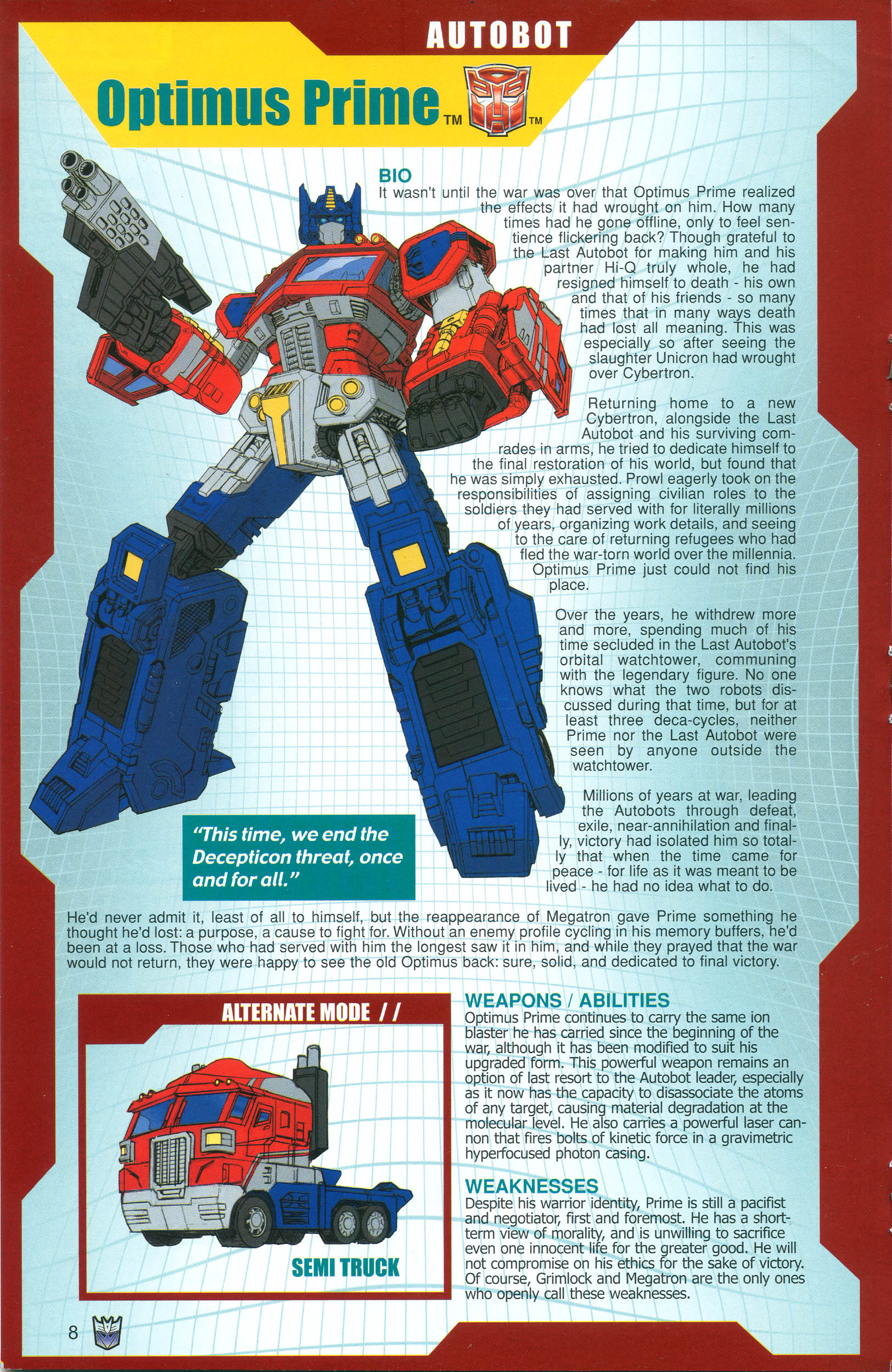 Read online Transformers: Collectors' Club comic -  Issue #18 - 8