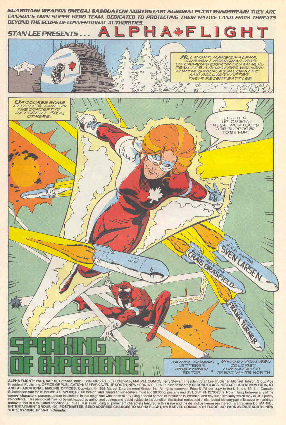Read online Alpha Flight (1983) comic -  Issue #113 - 2