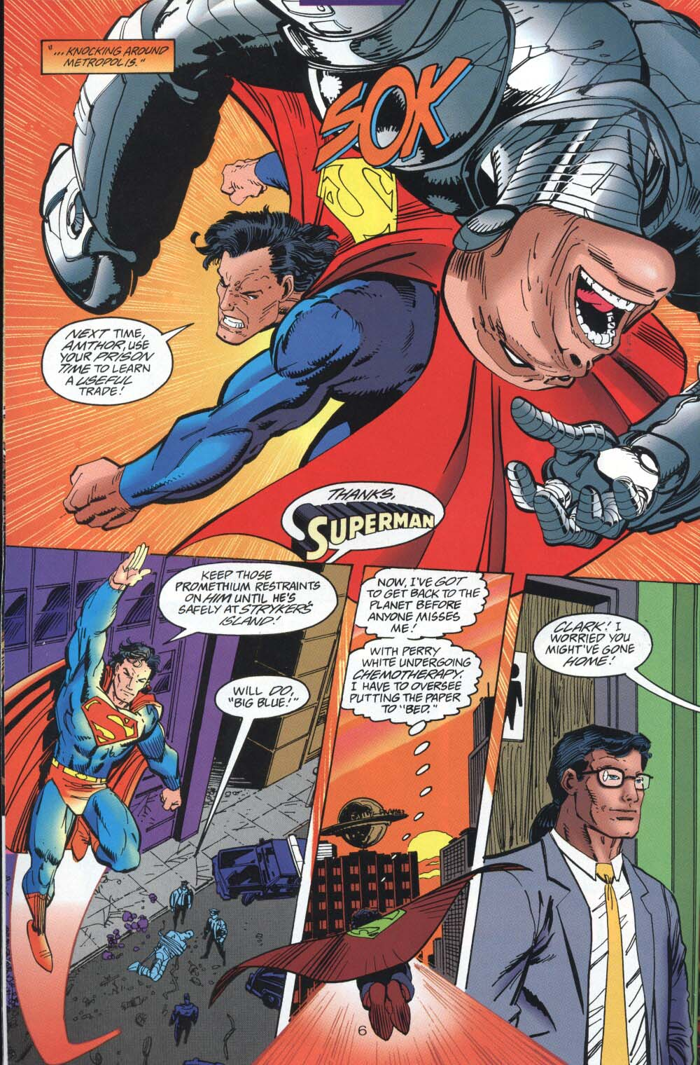 Read online Adventures of Superman (1987) comic -  Issue #539 - 7