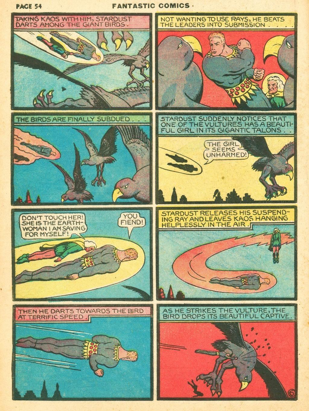 Read online Fantastic Comics comic -  Issue #12 - 56