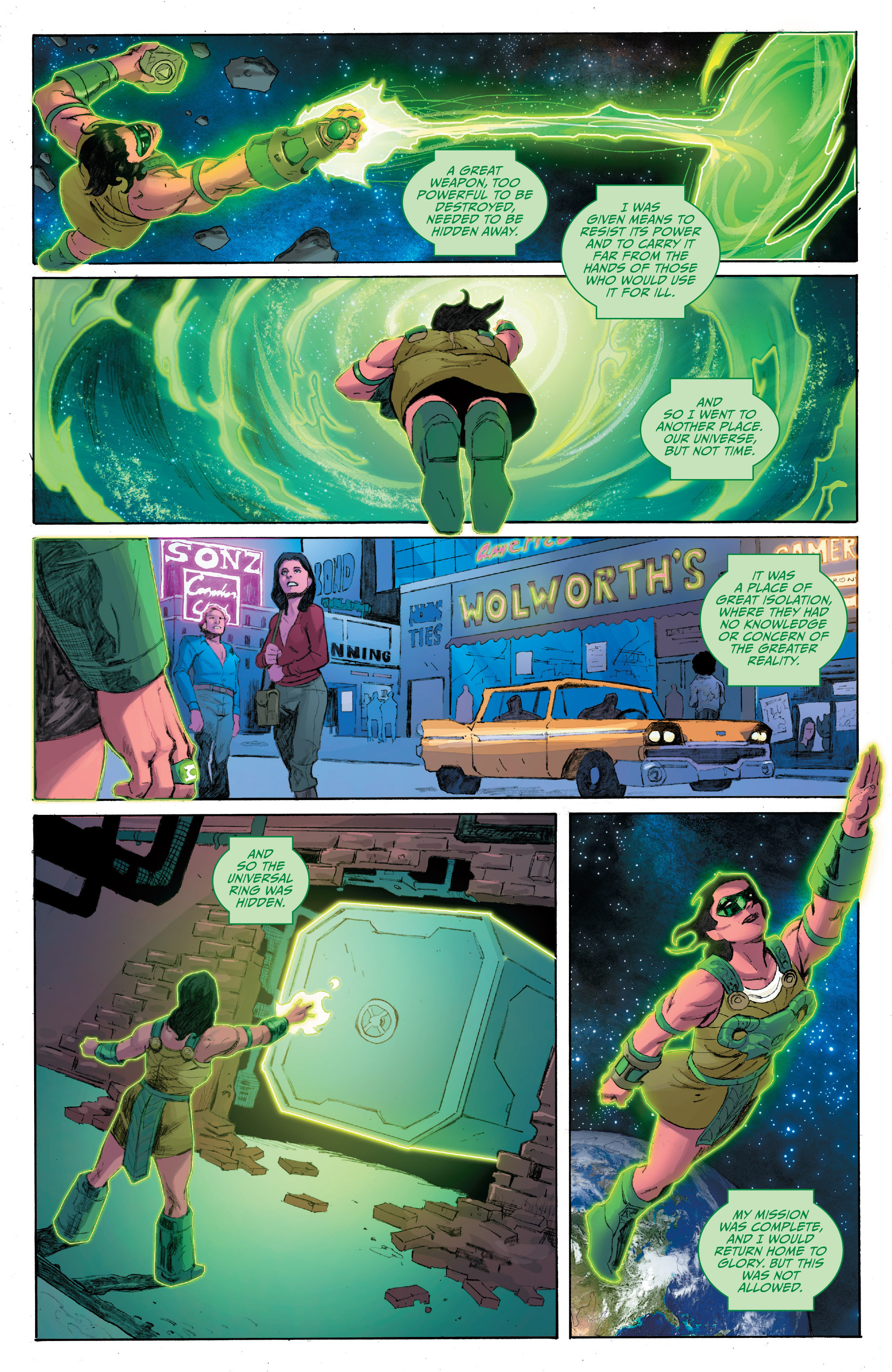Read online Planet of the Apes/Green Lantern comic -  Issue #4 - 4
