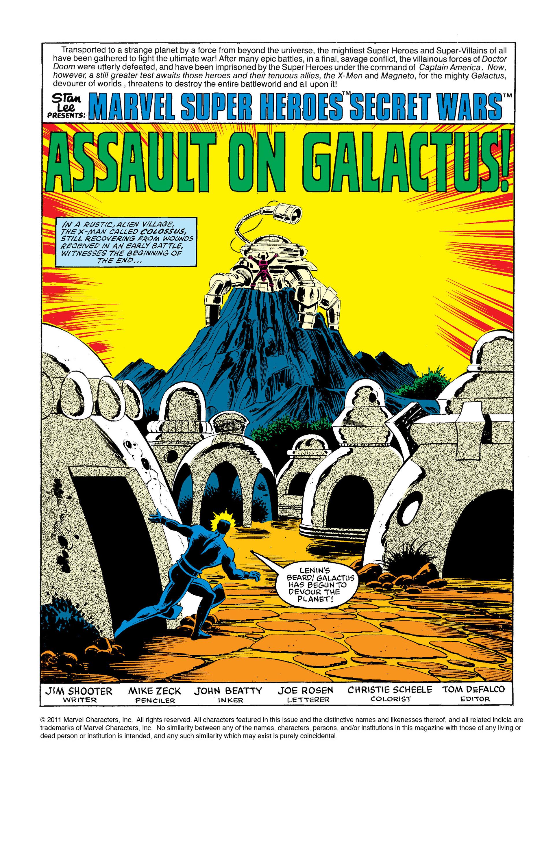 Read online Secret Wars (1985) comic -  Issue #9 - 2