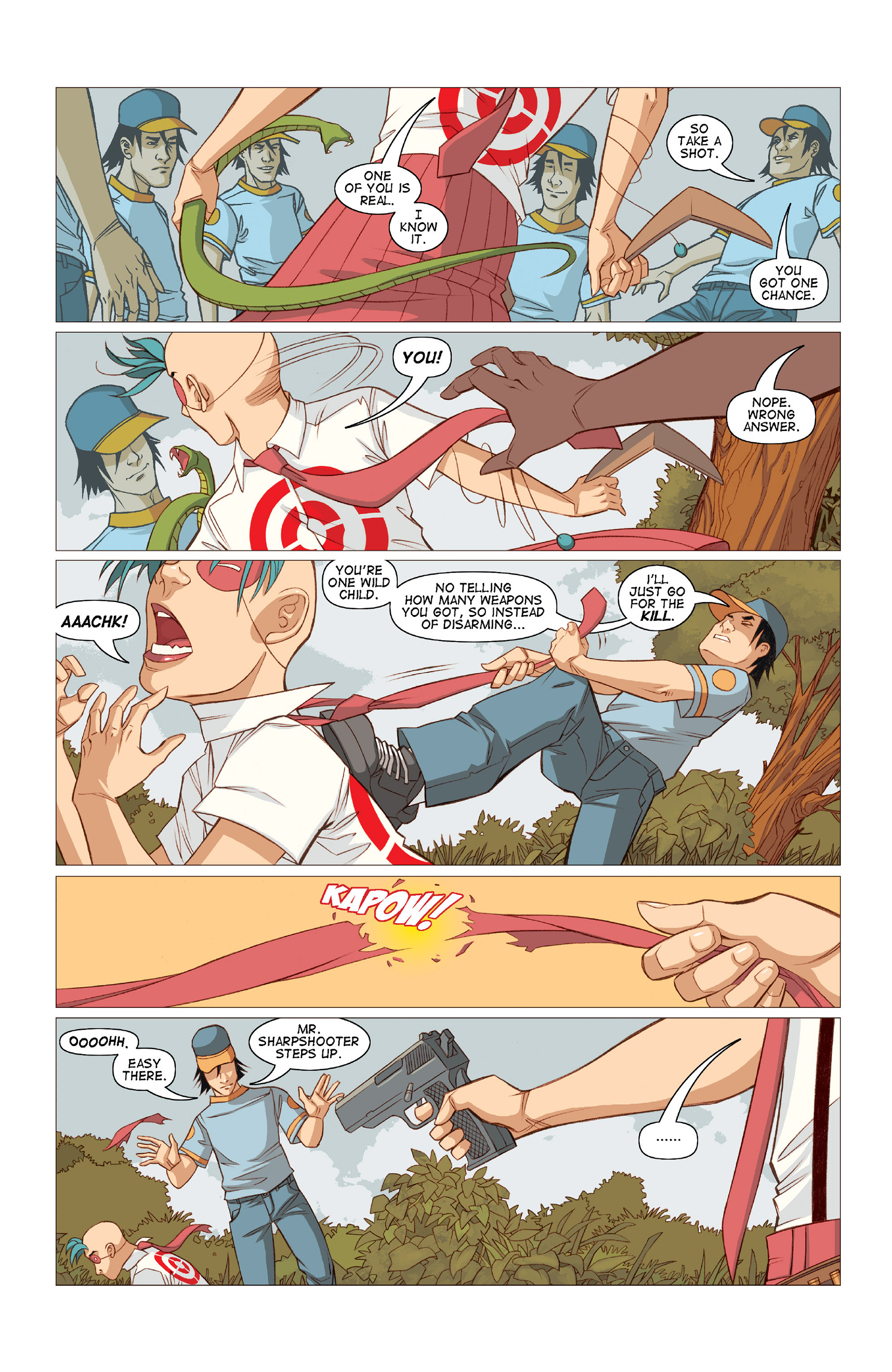 Read online Five Weapons comic -  Issue #10 - 20