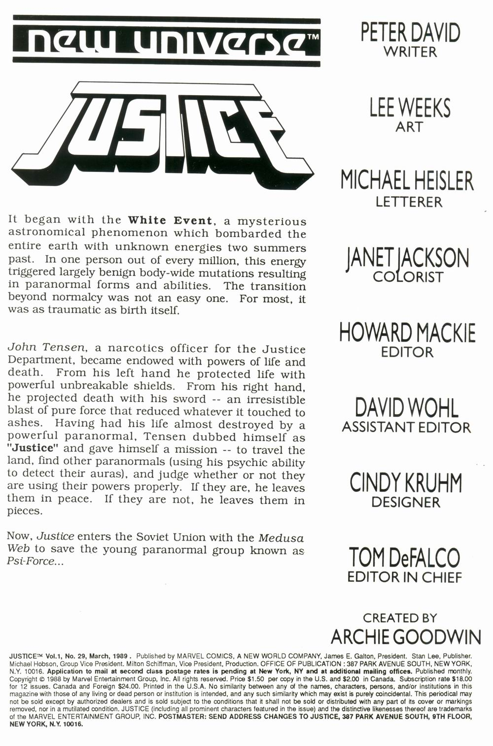 Justice (1986) 29 Page 2
