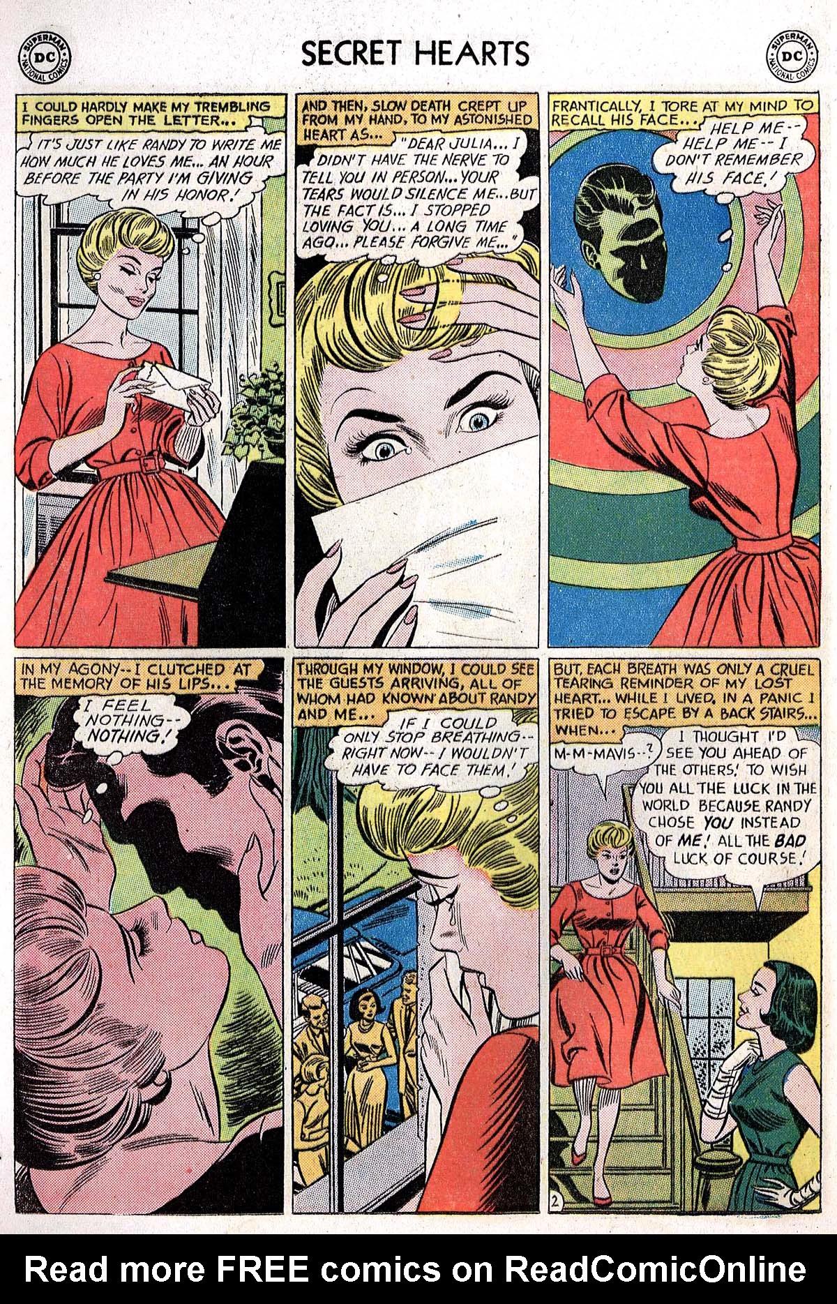 Read online Secret Hearts comic -  Issue #82 - 28