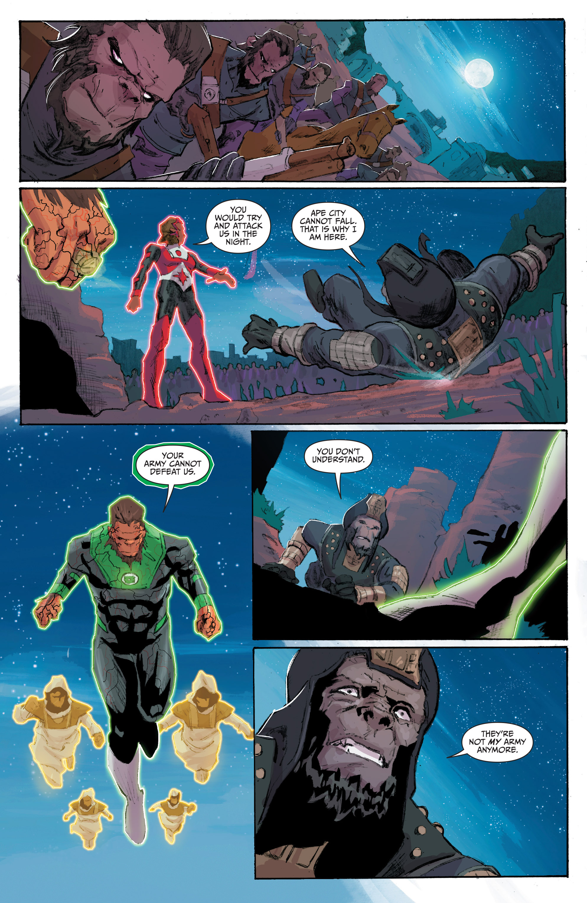 Read online Planet of the Apes/Green Lantern comic -  Issue #4 - 23