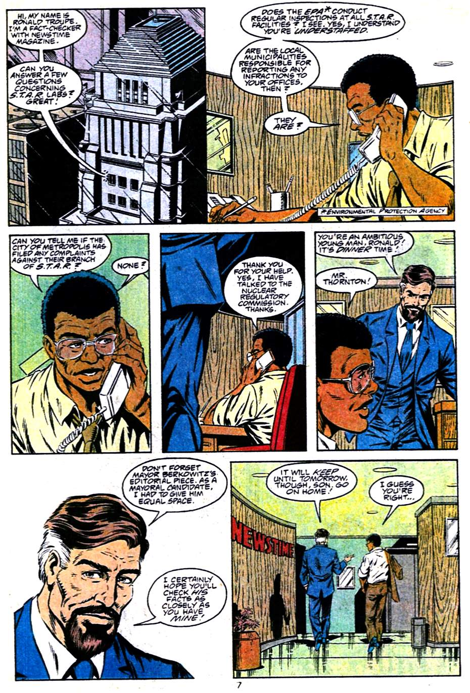 Read online Adventures of Superman (1987) comic -  Issue #484 - 8