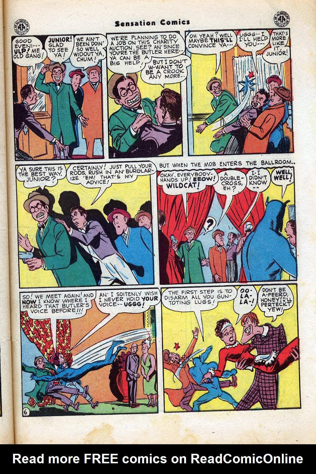 Read online Sensation (Mystery) Comics comic -  Issue #47 - 47