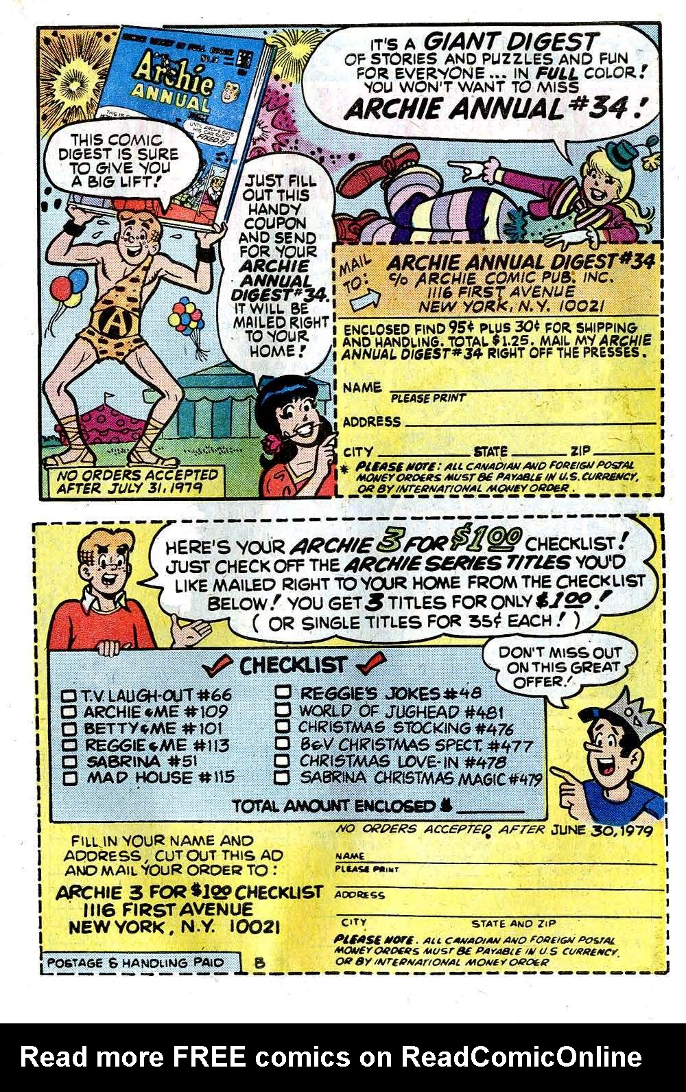 Read online Archie (1960) comic -  Issue #278 - 27