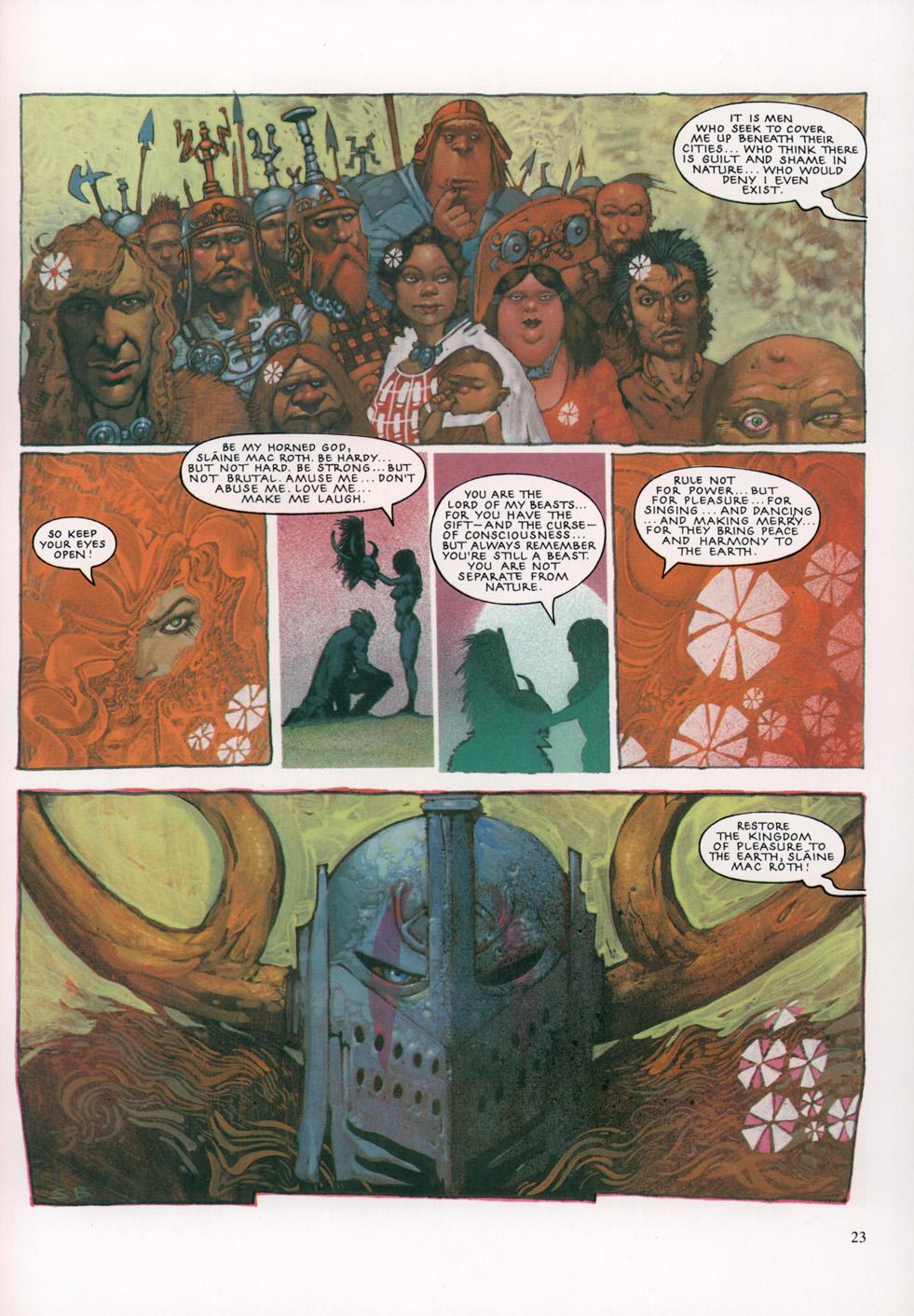 Read online Slaine: The Horned God (1993) comic -  Issue #4 - 24