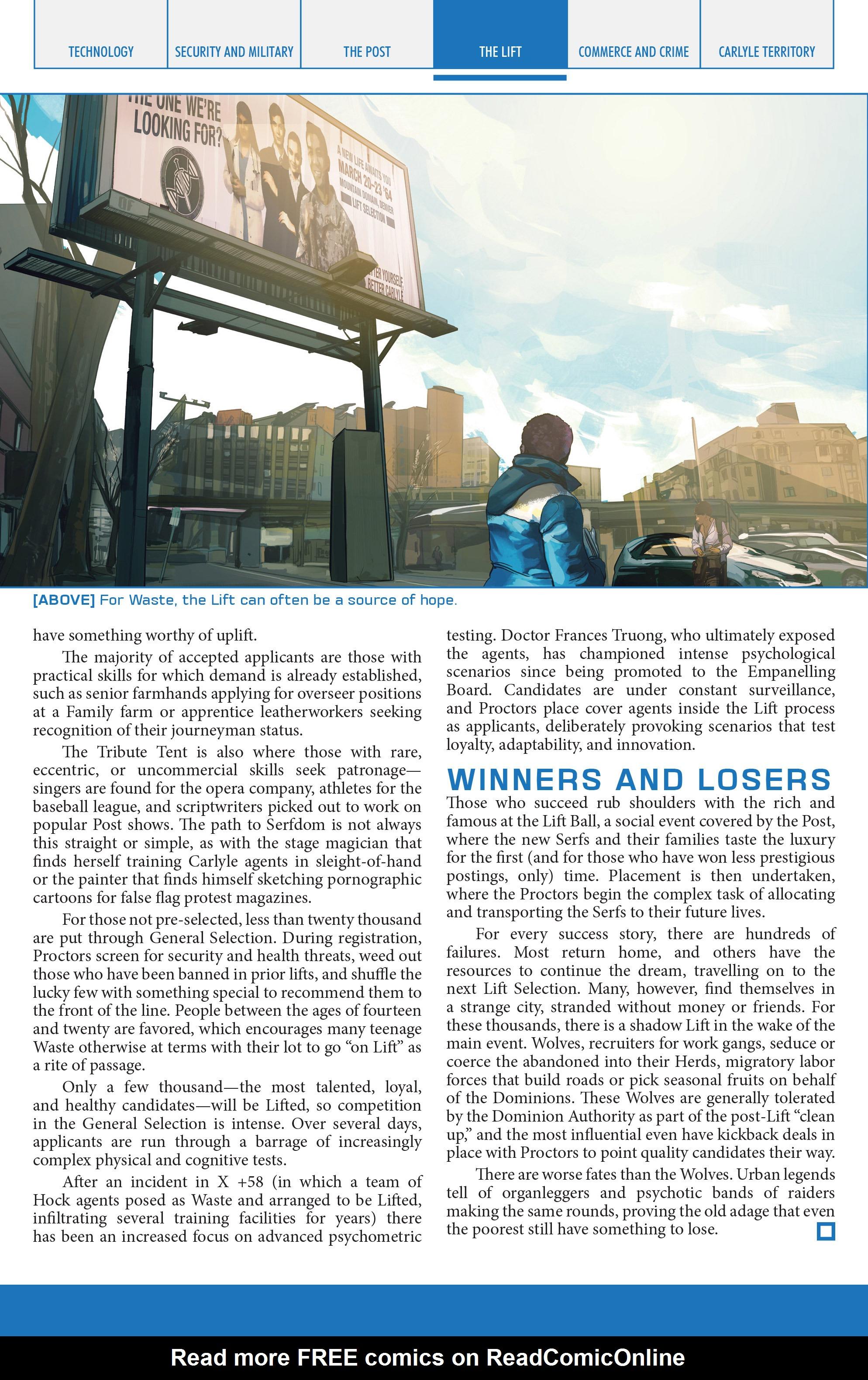 Read online Lazarus Sourcebook comic -  Issue # Vol. 1 - 17