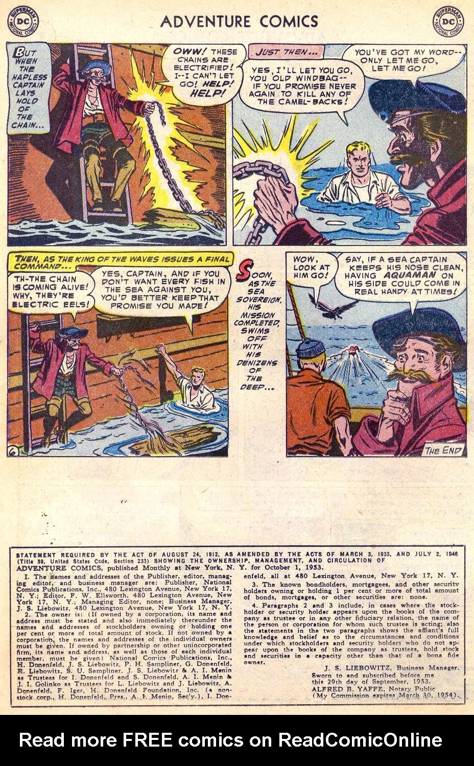 Read online Adventure Comics (1938) comic -  Issue #197 - 22